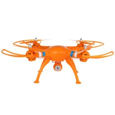 Newest Syma X8C Venture New Package 4 Channel 2.4G RC Quadcopter with HD Camera 6 Axis 3D Flip Fly UFO - EU PLUG Orange - Intl