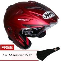 NHK Aviator Solid - Merah Maroon Dof + Gratis Masker NP