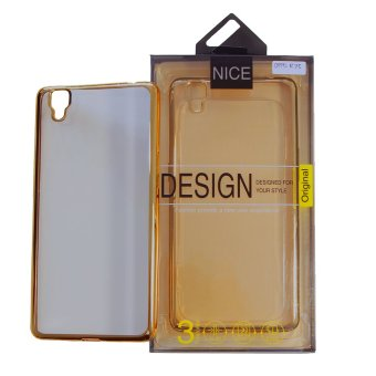 Nice Crystal Clear Shining Case untuk Oppo R7S Gold
