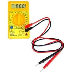 niceEshop DT830B LCD Digital Multimeter Ohmmeter Ammeter Ohm Voltmeter Handheld Tester (Yellow) (Intl)