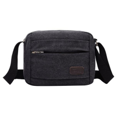 NiceEshop Men's Vintage Canvas School Bag Messenger Shoulder Bags, Black - Intl