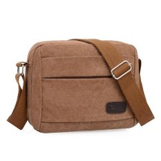 NiceEshop Men's Vintage Canvas School Bag Messenger Shoulder Bags, Coffee - Intl