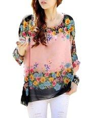 NiceEshop Womens Bohemian Batwing Sleeve Chiffon Shirt - Intl