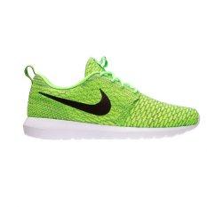 Nike Sepatu Pria - Flyknit Rosherun - Volt / Blck-Electric Green-Drk Grey