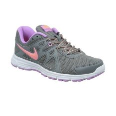 Nike Women Revolution 2 MSL 554901034-Sepatu -Cool Grey/ Sunset Glow- Fushaglou - Putih