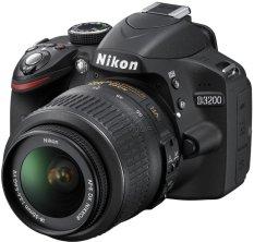 Nikon D3200 - Lensa Kit ED II 18-55mm VRII - 24.2 MP - Hitam