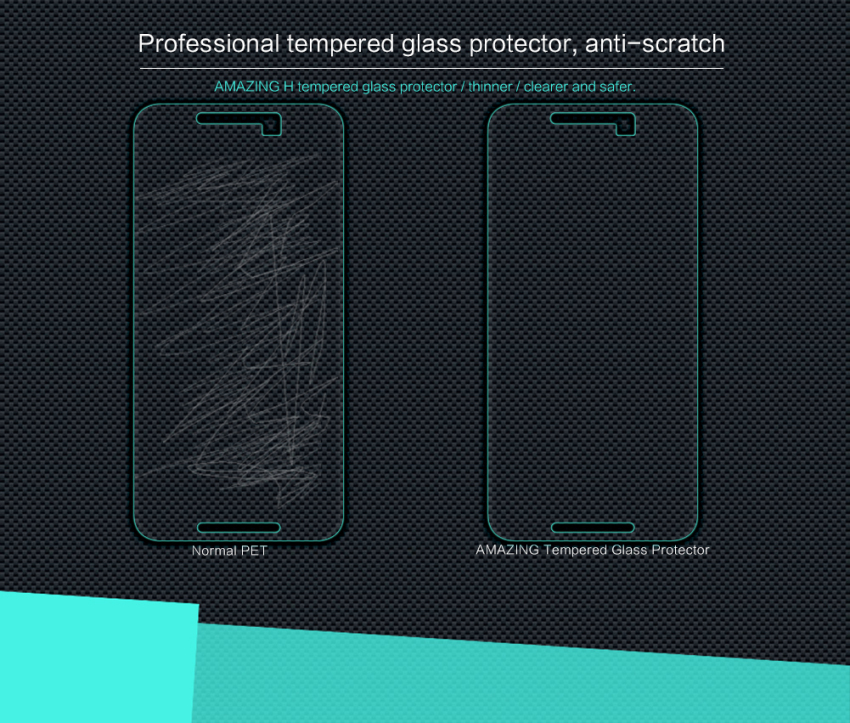 Nillkin Amazing H Nanometer Anti-Explosion Tempered Glass Screen Protector Protective Film for LG/Google Nexus 5X (Intl)