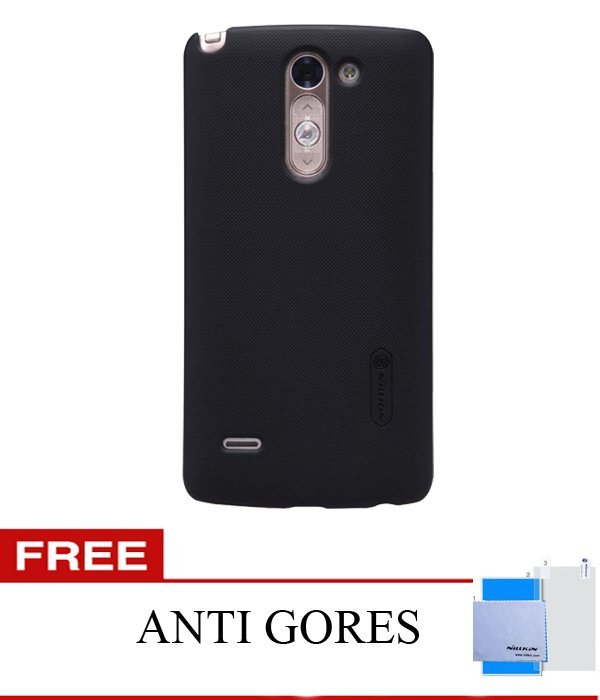 Nillkin LG G3 STYLUS Super Frosted Shield - Hitam + Gratis ScreenGuard Nillkin