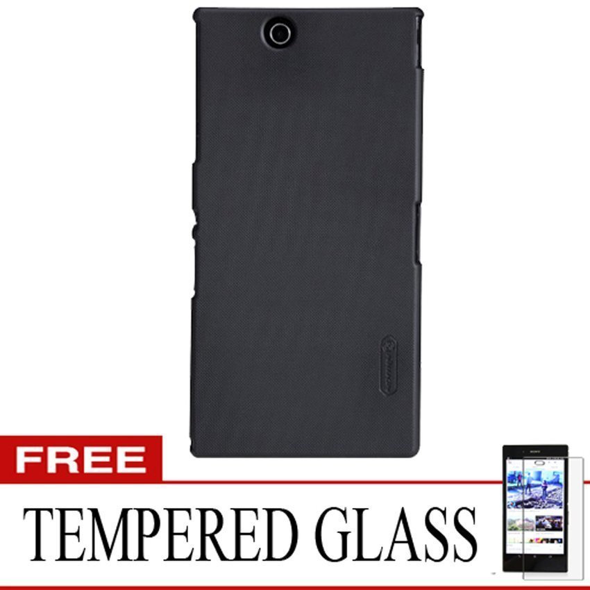 Nillkin Sony Xperia Z Ultra 4G LTE Super Frosted Sheild - Hitam + Gratis Tempered Glass