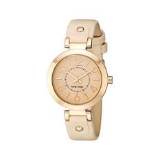 Nine West Women's NW / 1712PKRG Rose Gold-Tone Case Blush Pink Strap Watch (Intl)