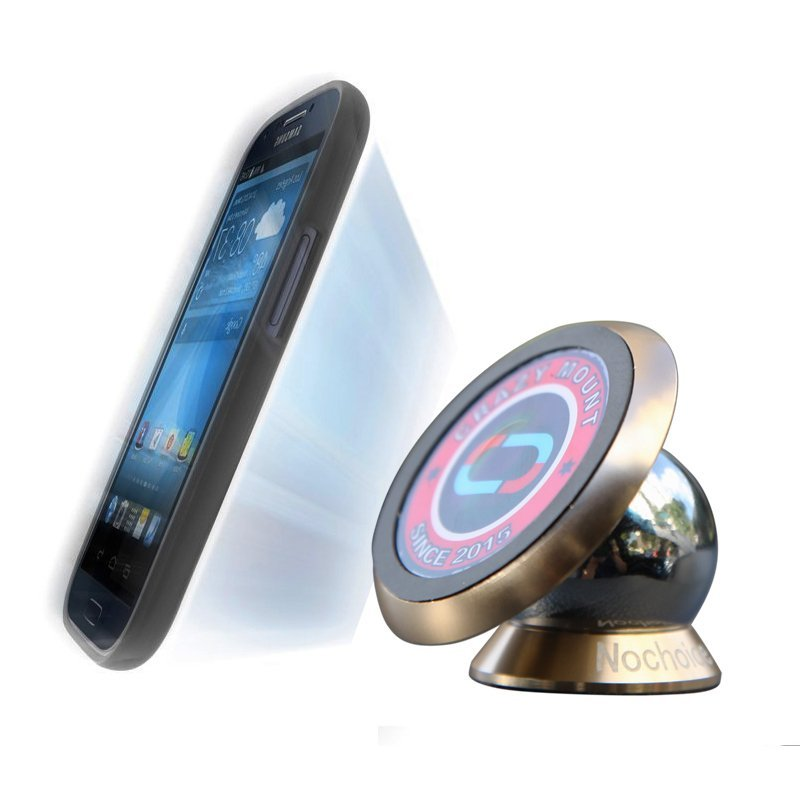 NoChoice 360 Degree Rotation Magnetic Phone Holder For Universal Cell Phone Gold (Intl)