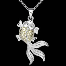 Noctilucent Pendant Necklace Trendy Fish Shaped SLYYGN018-A - Intl