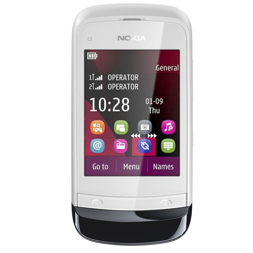 Nokia C2-03 - Dual GSM - Chrome White