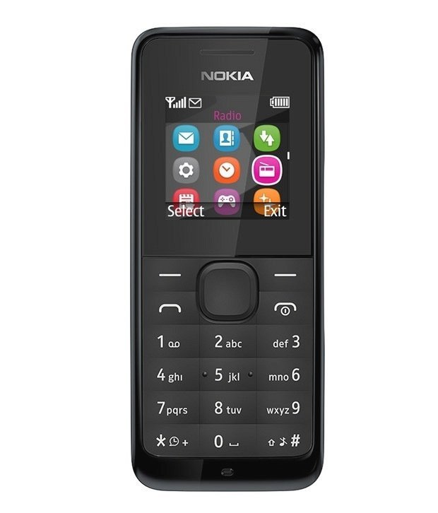 Nokia New 105 - Hitam