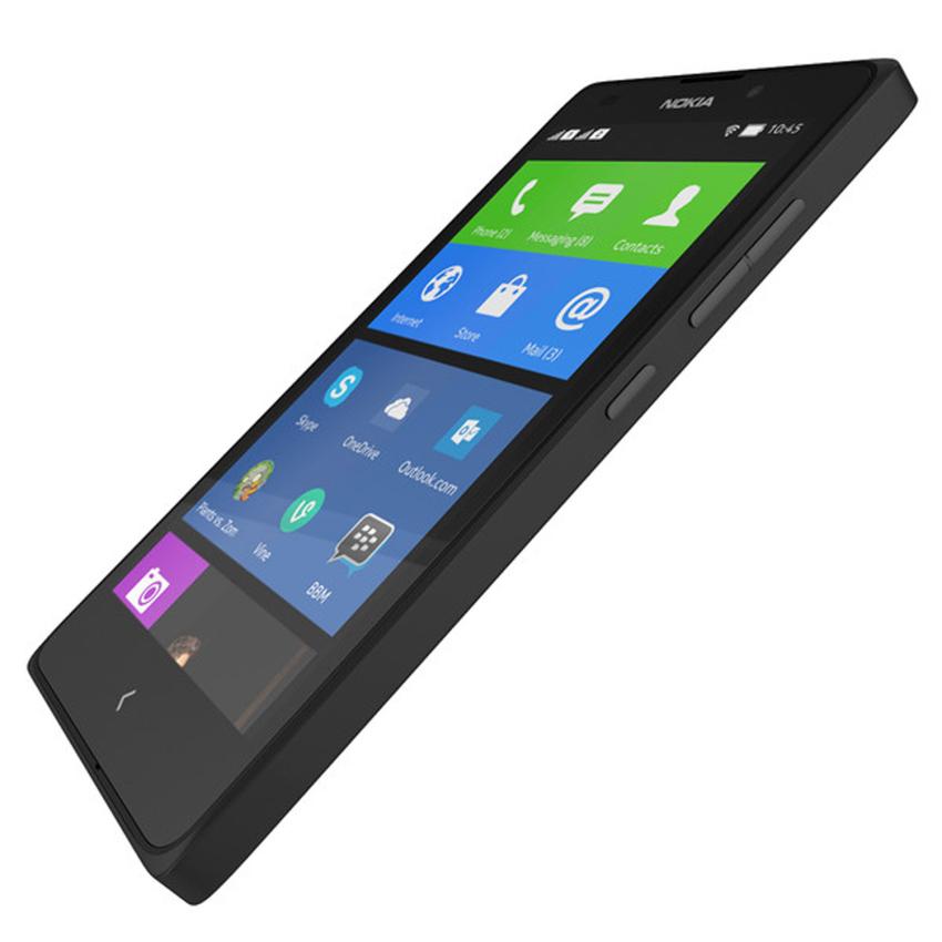 Nokia XL Android - 4GB - Hitam + Gratis T-Bar Case