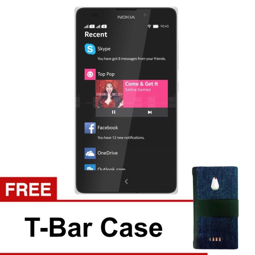 Nokia - XL Android - 4GB - Putih - Free T-Bar Case