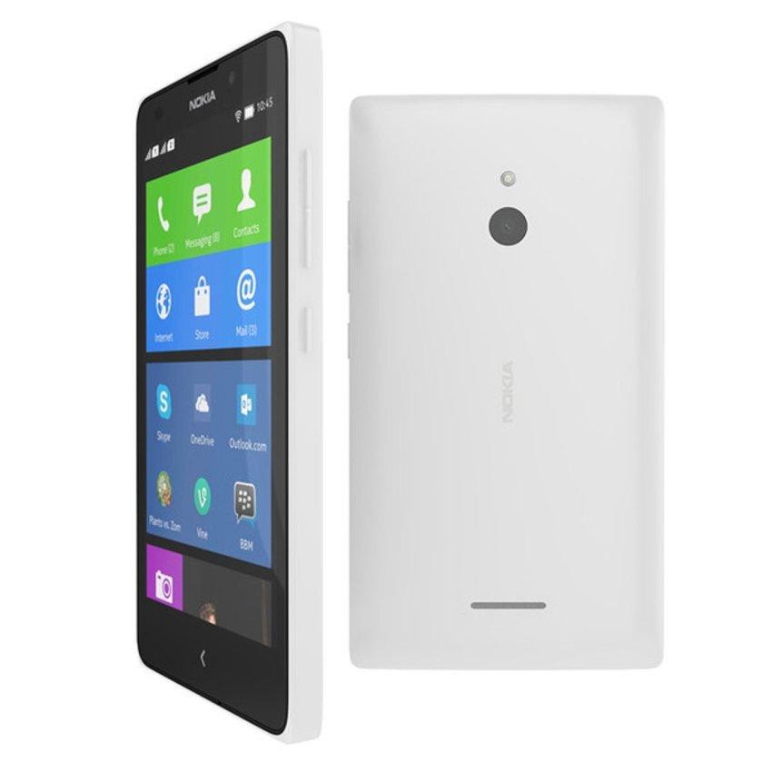 Nokia XL Android - 4GB - Putih + Gratis T-Bar Case