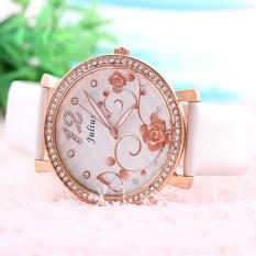 Nonof Julius (Julius) Diamond Watch Fashion Quartz Watch Belt Elegant Ladies Watch Watch 744 Pink