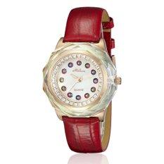 Nonof Melissa / Marisa Korean Fashion Gorgeous Natural Gem Diamond Ladies Watch F11675 Mother Of Pearl