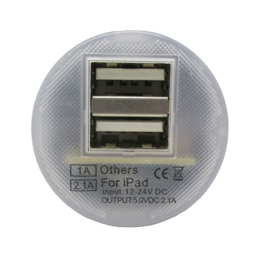NOOSY Mini USB Car Charger- CC02 - Putih