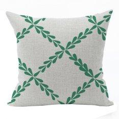 Nunubee Vintage Cotton Pillowcase Decorative Cushion Cover Square Home Pillowcase For Sofa White 1