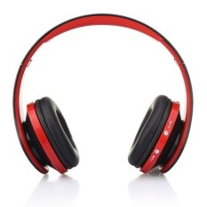 NX-8252 Bluetooth Headphone Fold High Fidelity Surround Sound Wireless Stereo Headset with Mic (Red) (Intl)
