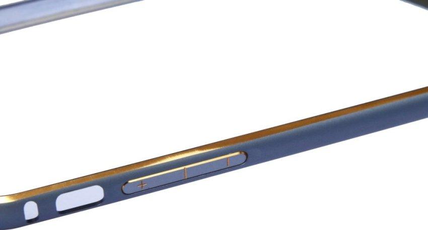 OEM Aluminium Screwless External Bumper Case for Apple iPhone 6 - Abu-Abu