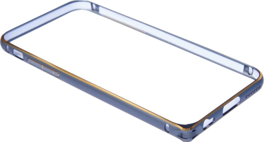 OEM Aluminium Screwless External Bumper Case for Apple iPhone 6 Plus - Abu-Abu