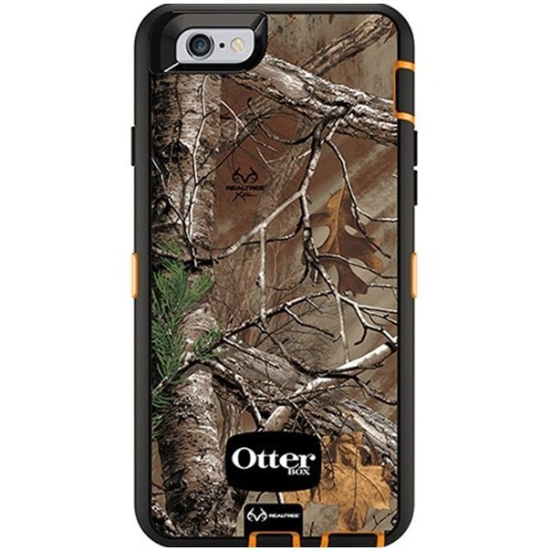 OEM Otter Box Defender Series Case with Realtree Camo for iPhone 6 - Xtra - Hitam