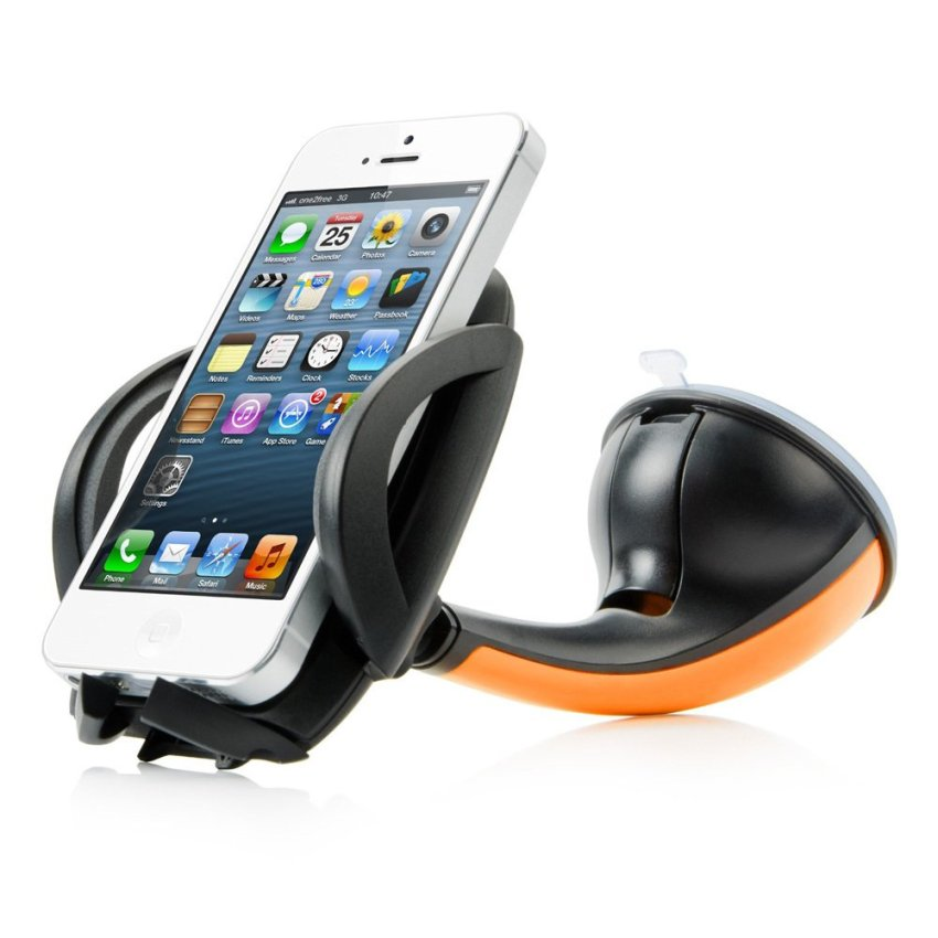 OEM Sport Car Mount Flyer Universal Mobile Holder for Smartphone - Orange