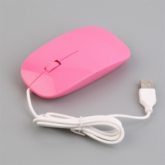 OH Wired Optical Mouse Ultra Slim High Quality Mice USB For PC Laptop (Pink) (Intl)