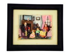 Ohome Decor Happy Family 3D Picture Frame - SP3936