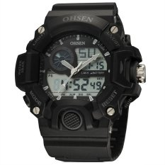 """'""""""""""""OHSEN 401D Men""""""""s Movement 50 Meters Waterproof Silicone Strap Double Movement LED Watch (Gray / Black) """"""""""""' (Intl)"""