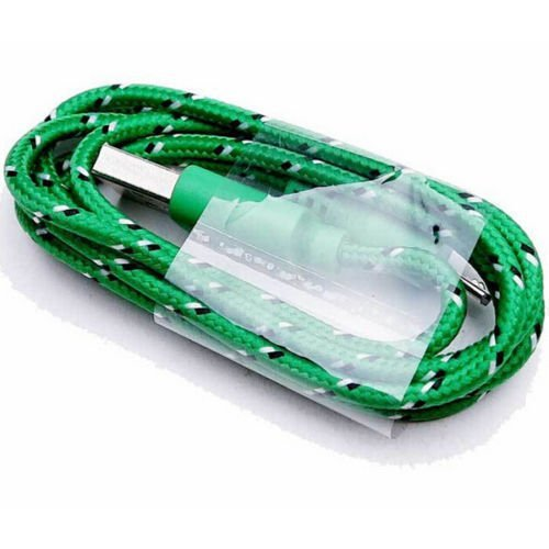 Okdeals Braided Cable Data Sync Cord For Cell Phones 2M Green