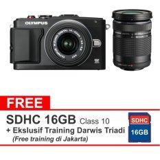 Olympus Kamera Mirrorless PEN E-PL6 - 16 MP - Hitam + Gratis SD 16 GB CLASS 10 + Form Training Darwis Triadi