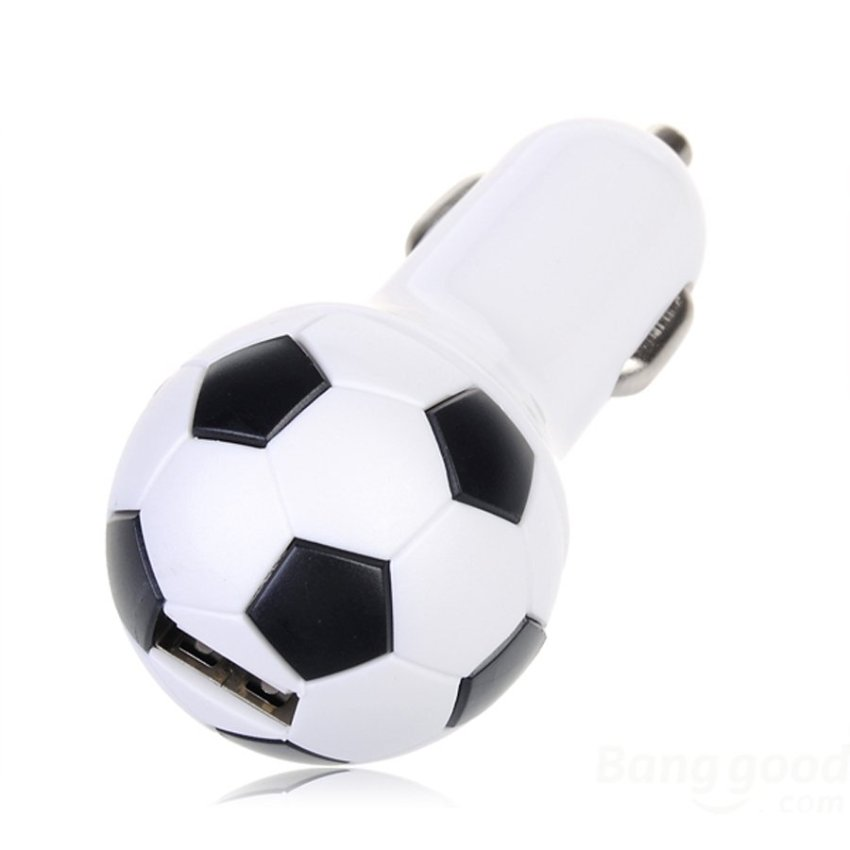 OnlineBestDigital Football style One Port mini usb auto Car Charger Adapter For Mobile Phone
