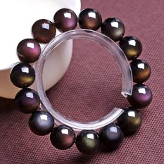 Opening Of Natural Ice Kinds Of Rainbow Obsidian Eye Bracelet Men Bracelets Female Models Lucky Transporter Beads Lap Gift -A Grade Rainbow Obsidian Eye About 8MM European And American Big-name High-end Luxury Retro- Intl
