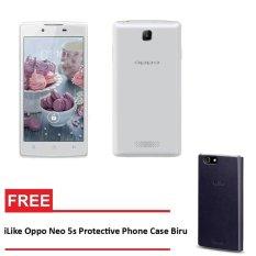 Oppo Neo 5s 16 GB Putih - Gratis iLike Oppo Neo 5s Protective Phone Case Biru