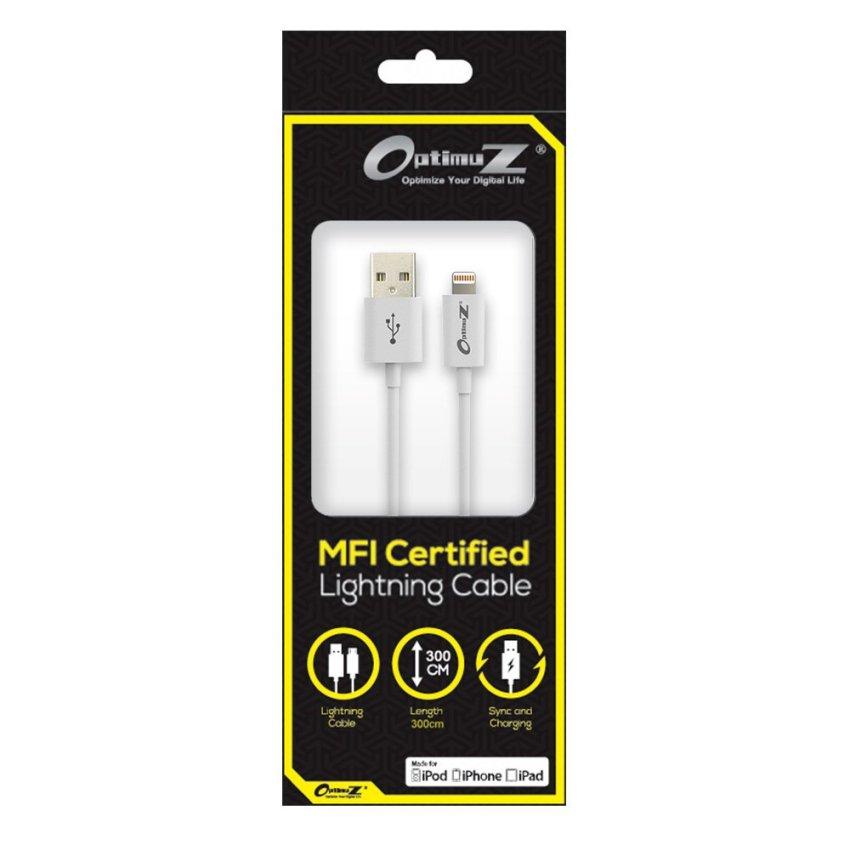 OptimuZ Kabel Lightning 8-pin i5 Apple MFI Certified - 3M - Putih