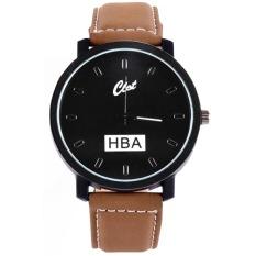 Ormano - Jam Tangan Pria - Hitam - Strap Kulit - HBA Sport Casual Watch