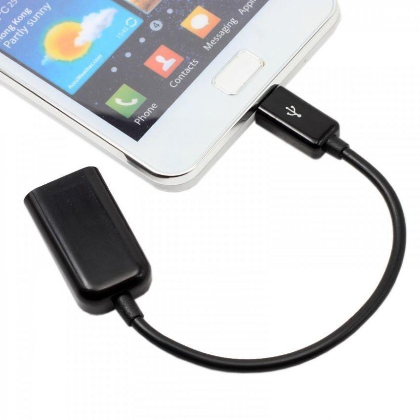 OTG USB Adapter Kabel OTG Micro USB - Hitam