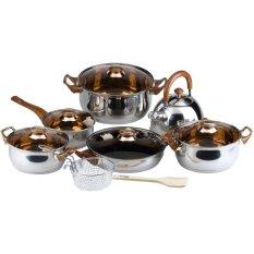 Oxone Eco Cookware Set Panci - Cokelat
