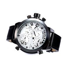 Oxoqo Genuine Fashion Men's Quartz Watch Three Movement Boys Retro Classic Tide Men's Leather