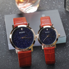 Oxoqo GUOU New Personalized Fashion Leather Watch Watch With A Blue Sky Sand Chassis Ladies Watch