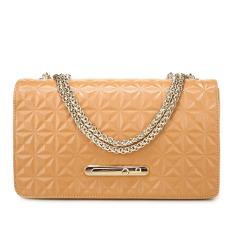PASTE Women Messenger Bags Luxury Genuine Leather Handbags Fashion Ladies Chain Shoulder Bag Designer Handbag Crossbody For Women Small Bag (Khaki)