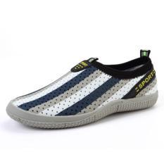 PATHFINDER Men's Summer Breathable Shoes EVA Slip Ons AD4 (Gray)