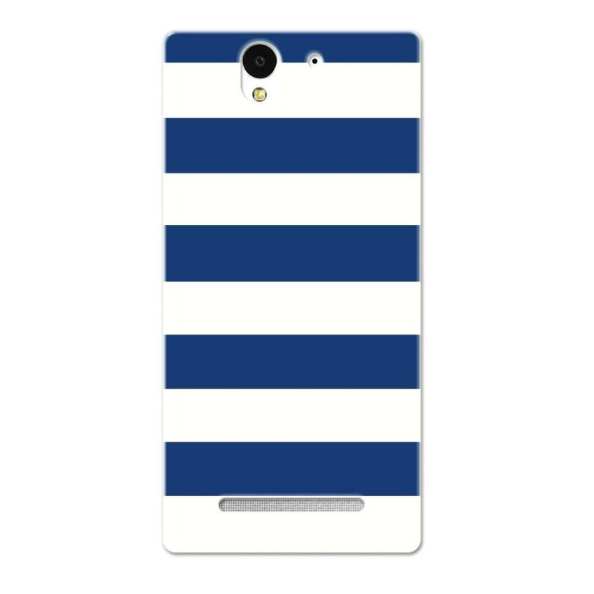 PC Plastic Case for Sony Xperia C3 navy and white