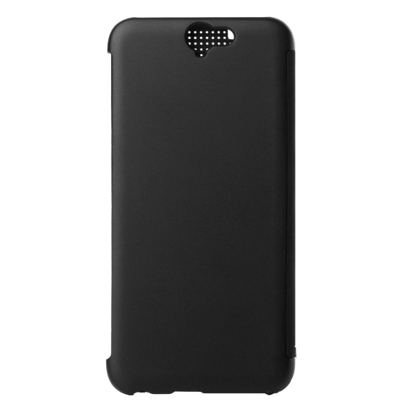 PC Silicone Horizontal Flip Hard Cover with Sleep / Wake-up Function for HTC One A9 (Black) (Intl)