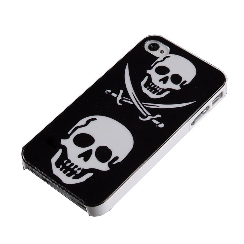 PC Skin Case for Apple iPhone 4/4S (Black) (Intl)