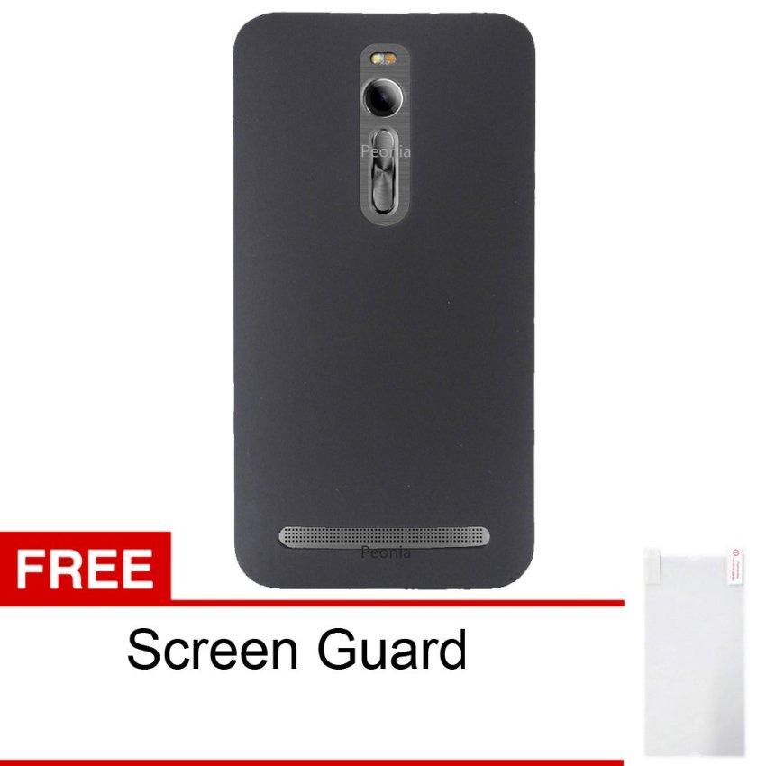 Peonia Asus Zenfone 2 ZE551ML / ZE550ML 5.5 Inch Hardcase - Hitam + Free Screenguard